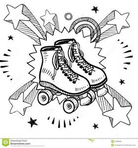 roller skating sketch royalty free stock photo image