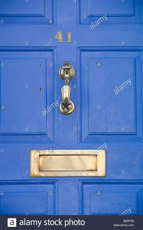 No 41 Front Door Of House With Brass Knocker And Letter Brass Letter Boxes For Front Doors
