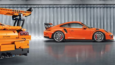 orange porsche 911 gt3 rs a porsche 911 gt3 rs made of 2 704 parts