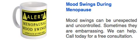 mood swings in menopause menopause