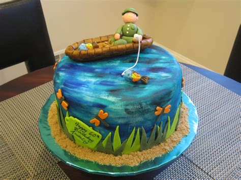 themed birthday cakes for adults la p 226 tisserie rose fishing themed 60th birthday cake