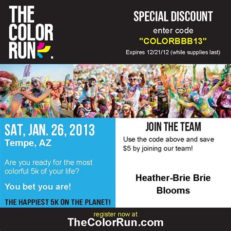 the color run tempe arizona january 26 2013 a fast