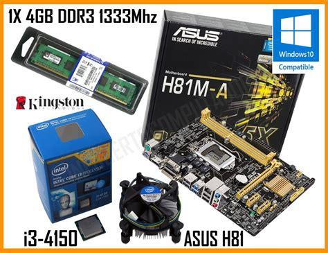 kit intel i3 4150 placa m 227 e asus h81 4gb hd 500gb r 1 199 00 no mercadolivre