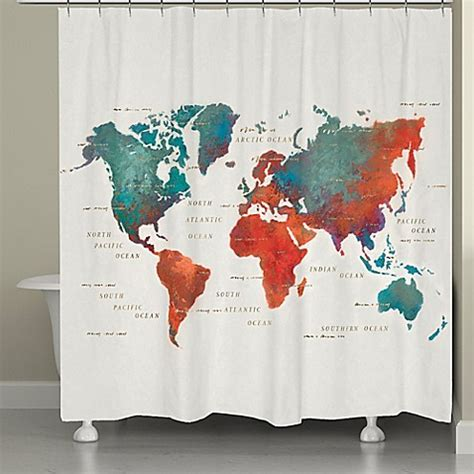 shower curtains map laural home 174 colorful map shower curtain www