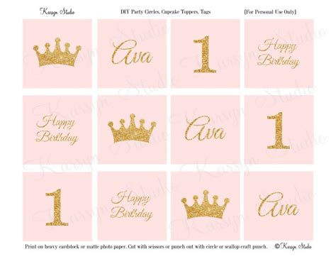 printable birthday girl crown 17 best images about primo compleanno festa on pinterest
