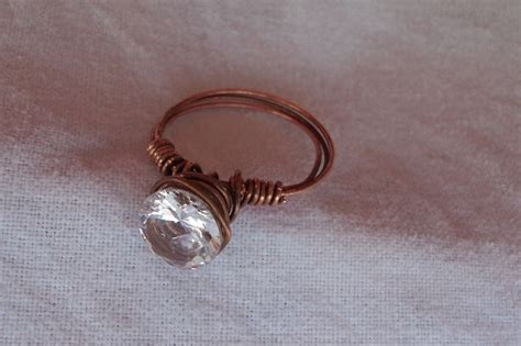 copper wedding ring 183 a wire ring 183 jewelry on cut out