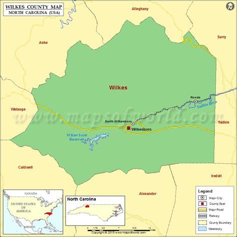 wilkes county map north carolina