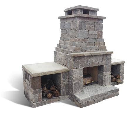 build with fremont outdoor fireplace romanstone