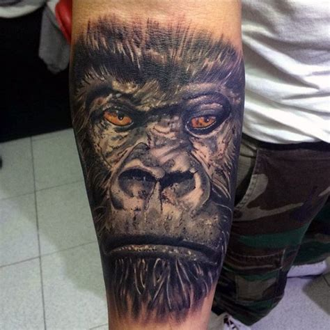 silverback gorilla tattoo 100 gorilla designs for great ape ideas