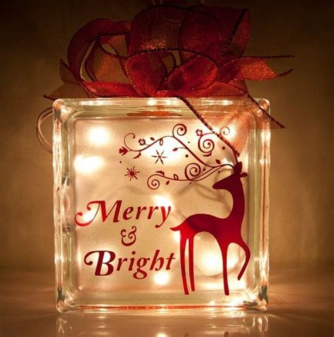 glass block christmas ideas pinterest