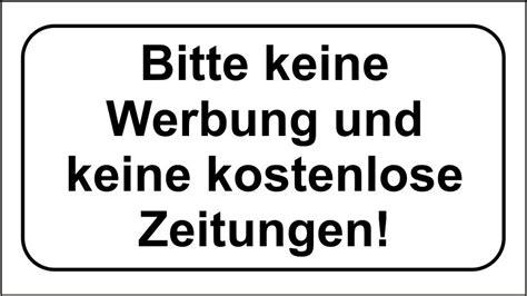 Keine Werbung Aufkleber Pdf by 3x Bitte Keine Werbung Und Kostenlos Zeitungen 40x70mm