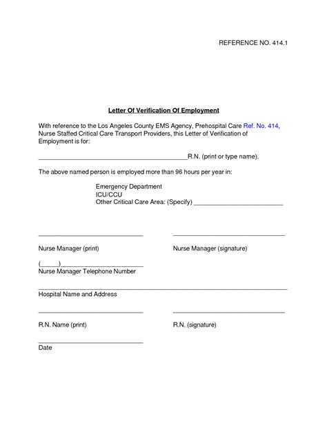 Verification Letter Of Employment Best Photos Of Printable Verification Of Employment Letter Free Printable Employment