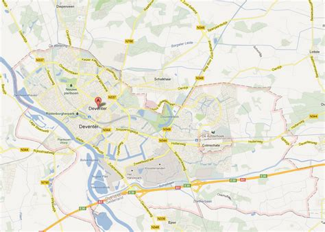 deventer netherlands map deventer map