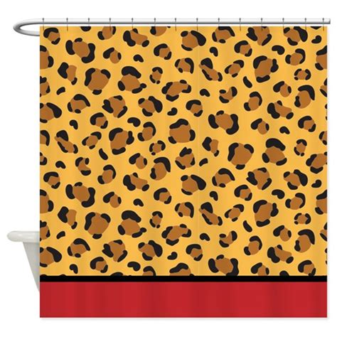 cheetah print shower curtain red leopard print shower curtain by inspirationzstore