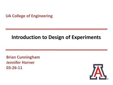 design experiment ppt ppt introduction to design of experiments powerpoint