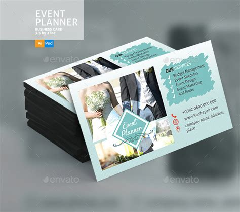 event coordinator business card templates 25 wedding planner business card templates
