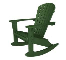 seashell adirondack rocking chair polywood recycled