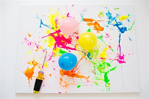 painting for hello hello wonderful balloon splatter painting with tools