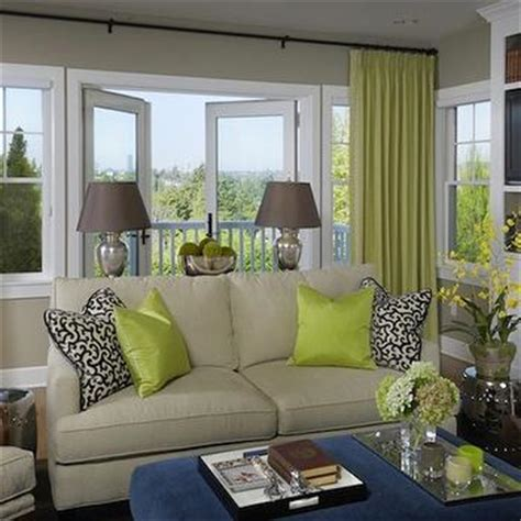 green walls grey curtains chartreuse curtains design ideas