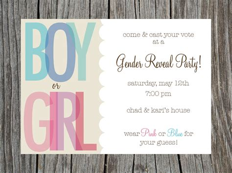 gender reveal party invites template best template