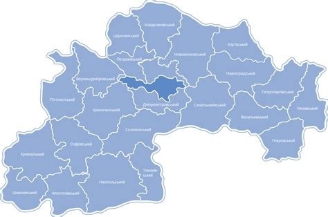 administrative divisions of dnipropetrovsk oblast wikipedia