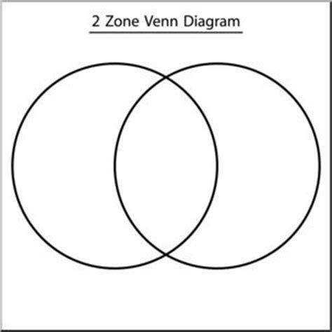 black venn diagram clip venn diagram 2 zone b w labeled i abcteach