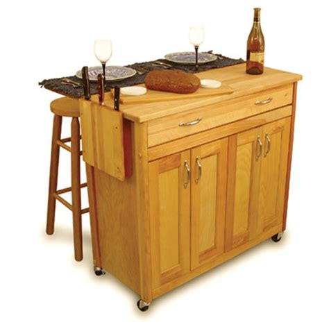 mid size super butcher block kitchen island cart