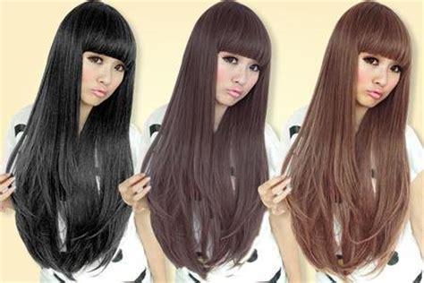 Hairclip Rambut Palsu Panjang Curly Coklat Import best seller hair clip curlywave 3 layer ombre big layer bando wig bangs poni