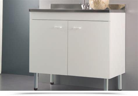 lavello bianco mobile sottolavello con piedini idrofugo bianco 90x50 con