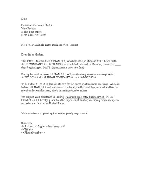 Visa Letter From School Sle Business Letter For Indian Visa