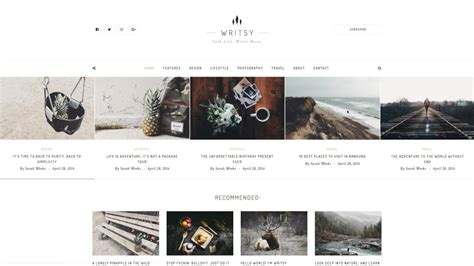 theme blog classic writsy a clean faded vintage wordpress blog theme