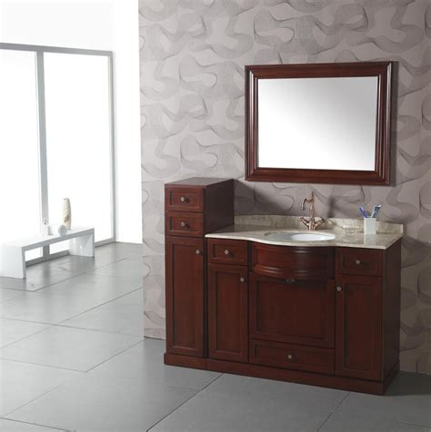 43 inch transitional single sink bathroom vanity with