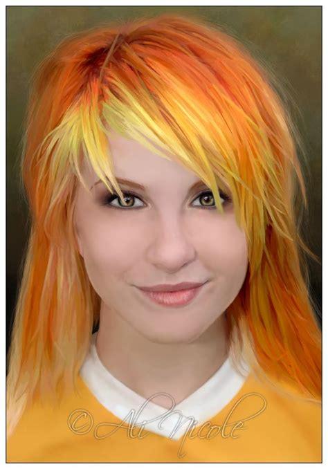 funky fringes yellow fringe hayley williams orange hair pinterest