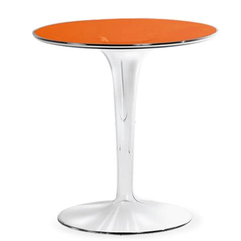 Kartell Side Table Kartell Philippe Starck Tip Top Side Table Orange Panik Design
