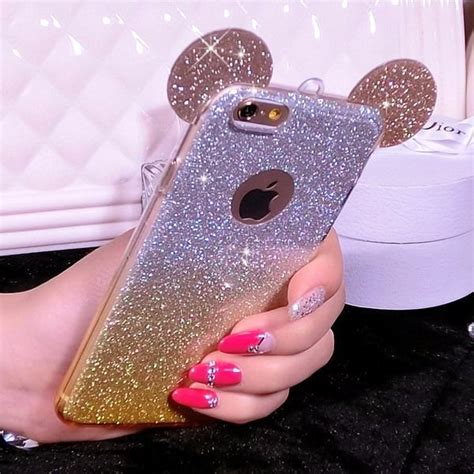 Ap Mickey 3d Glittery High Quality Softcase Iphone 4 5 6 6 Grand for iphone 6s 6 6s plus 3d mickey mouse ears soft silicone skin cover ebay