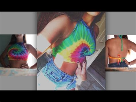 Hq 15666 Halter Ring Top 1 diy halter tie back crop top out of an t shirt