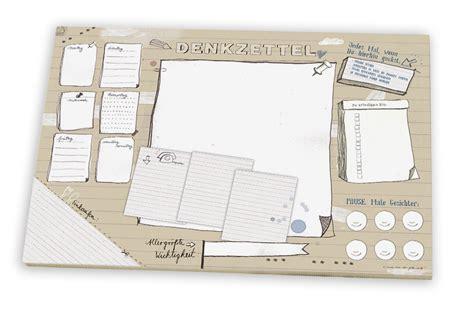 schreibtischunterlage foto schreibtischunterlage aus papier denkzettel a3 25 bl zum