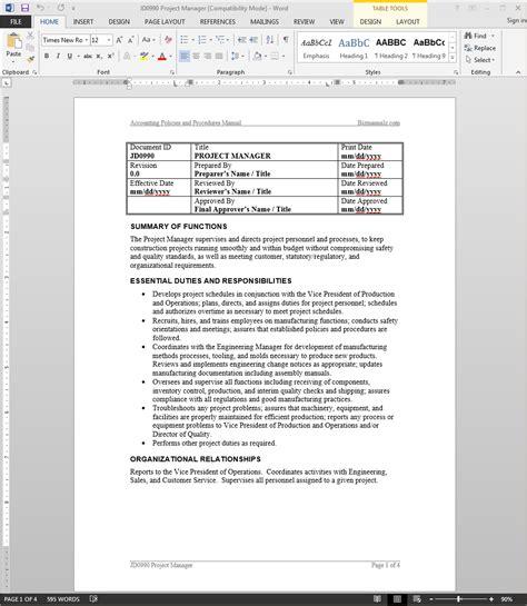 ehr project manager job description salary com