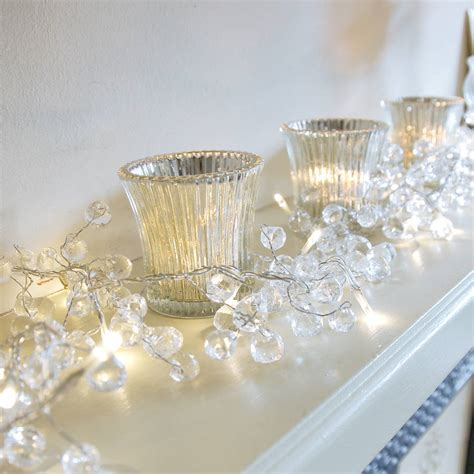 Clear Crystal Led Light Garland By Red Lilly