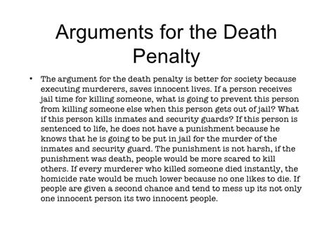 Arguments Against Penalty Essay by Assignment 4