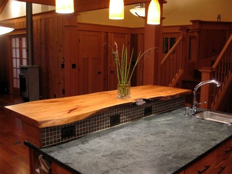 custom live edge island countertop