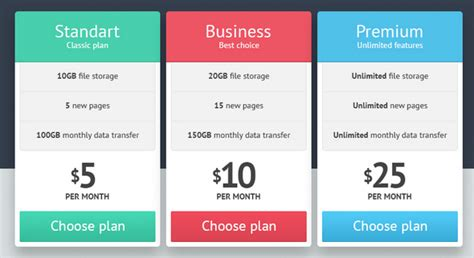 35 free creative pricing plan table psd template 35 free photoshop psd price templates for pricing tables