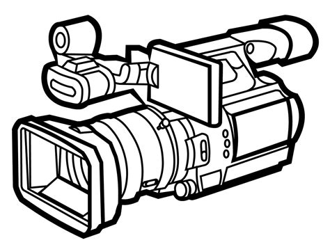 video camera coloring page video camera cartoon clipart best