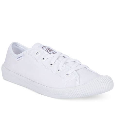 white lace sneakers palladium s flex lace sneakers in white lyst