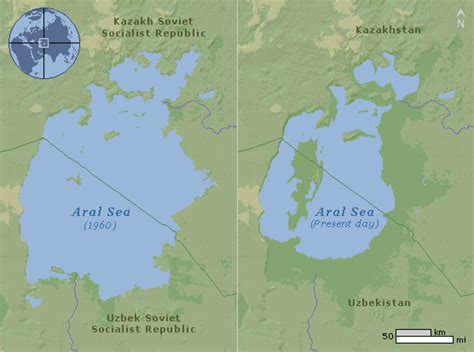 aral sea map aral sea map images search