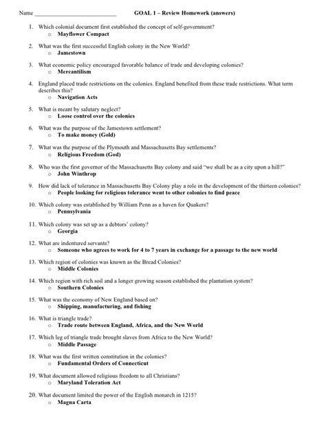 Chapter 9 Section 1 The Market Revolution Answers by Goal 1 Test Review Answers