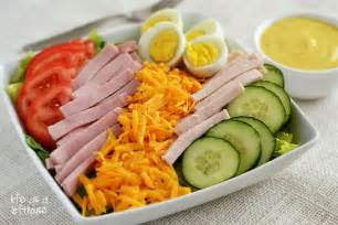 chef salad with honey mustard dressing