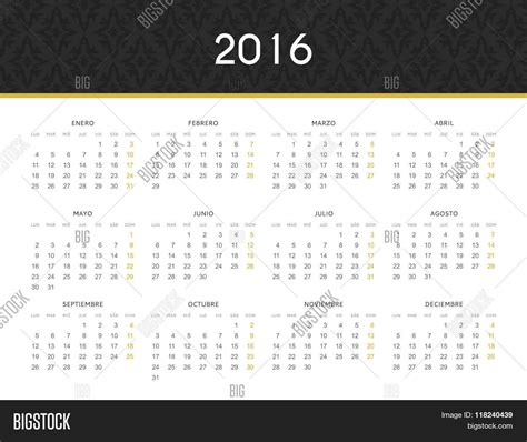 printable calendar 2016 in spanish simple modern calendar 2016 in spanish ready for print