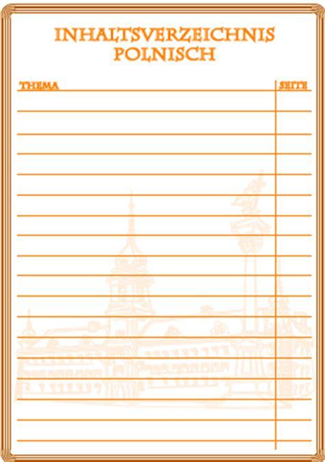 inhaltsverzeichnis polnisch inhaltsverzeichnisse ausdrucken