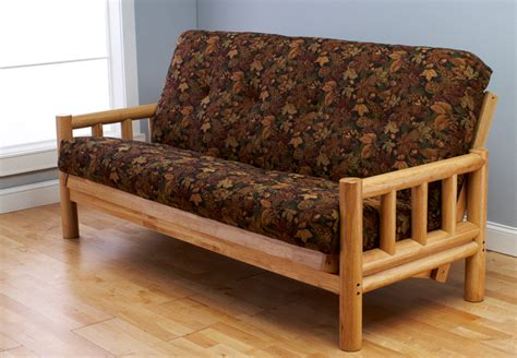 cabin futon lodge futon with autumn leaf mattress rustic futons